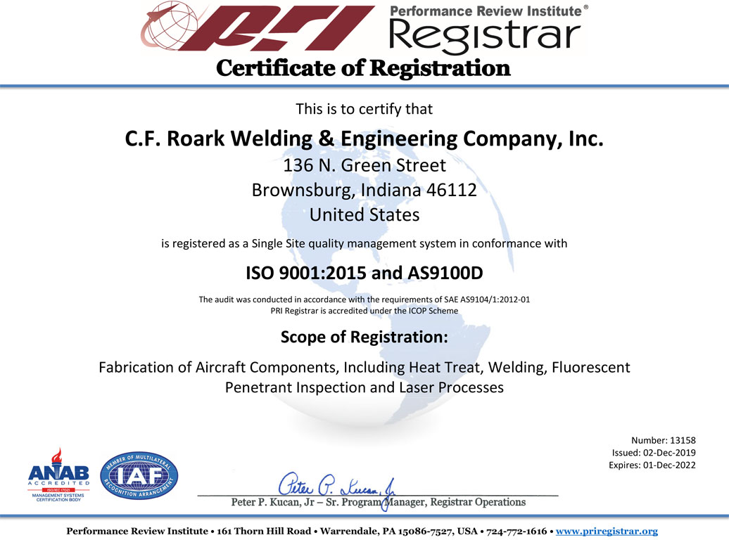 iso 9001AS9100 Certification