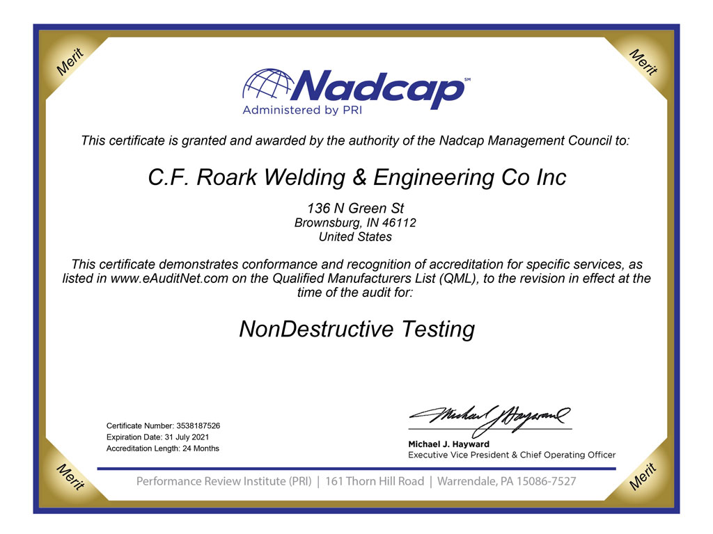 nadcap nondestructive testing certification
